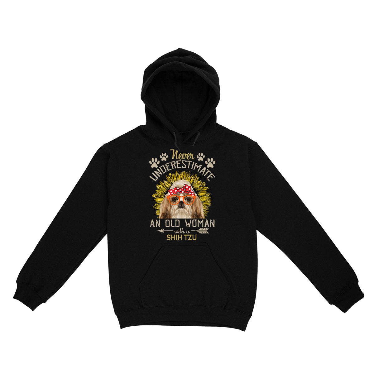 Never Underestimate An Old Woman With A Shih Tzu EZ06 0504 Hoodie