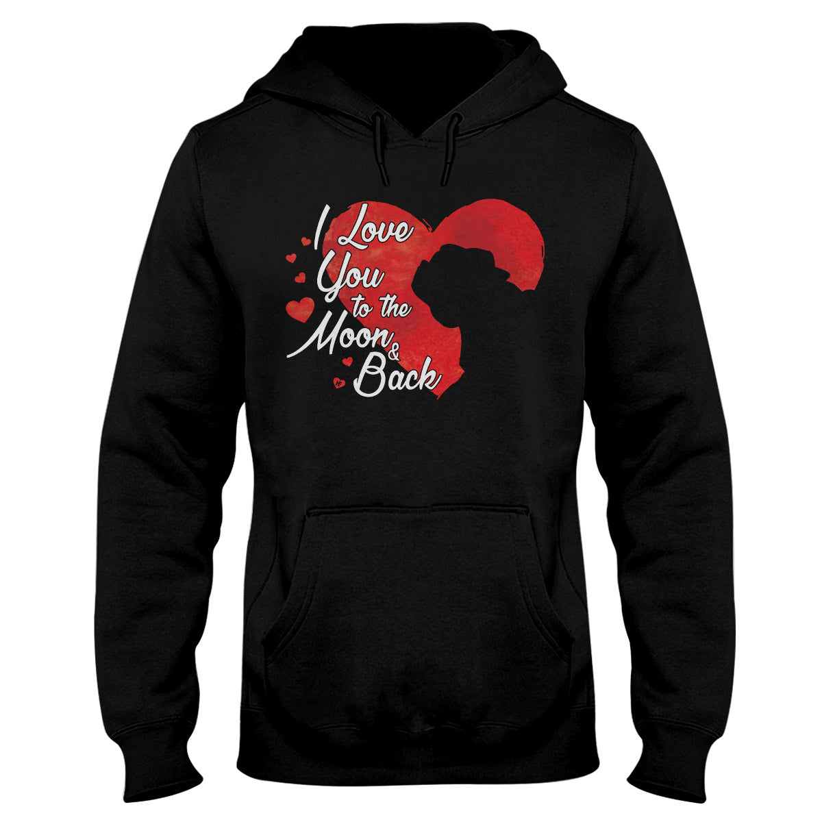 Pug Heart I Love You To The Moon And Back EZ07 1609 Hoodie