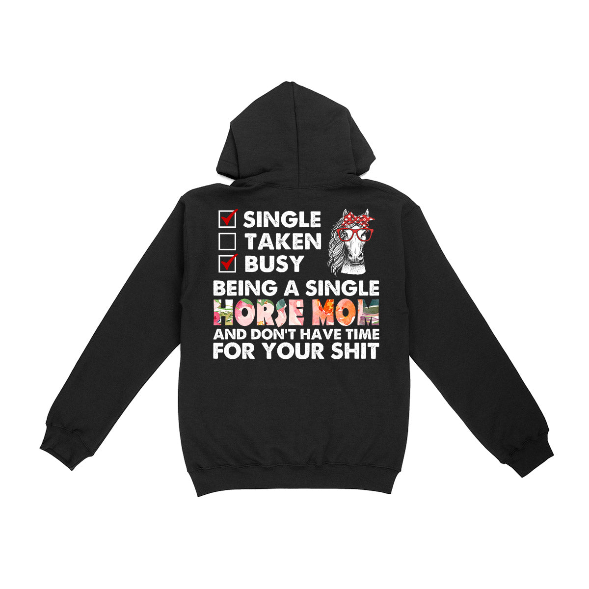 Single Horse Mom EZ01 Hoodie - Hyperfavor