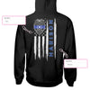 Thin Blue Line Police Name Personalized EZ05 0409 Custom Hoodie - Hyperfavor