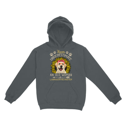 Never Underestimate An Old Woman With A Labrador Retriever EZ06 0504 Hoodie - Hyperfavor