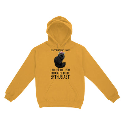 Crazy Black Cat Lady Feline EZ03 2803 Hoodie - Hyperfavor