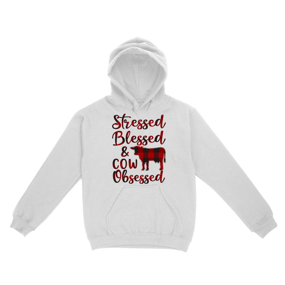 Stressed Blessed Cow Obssesed EZ03 3103 Hoodie