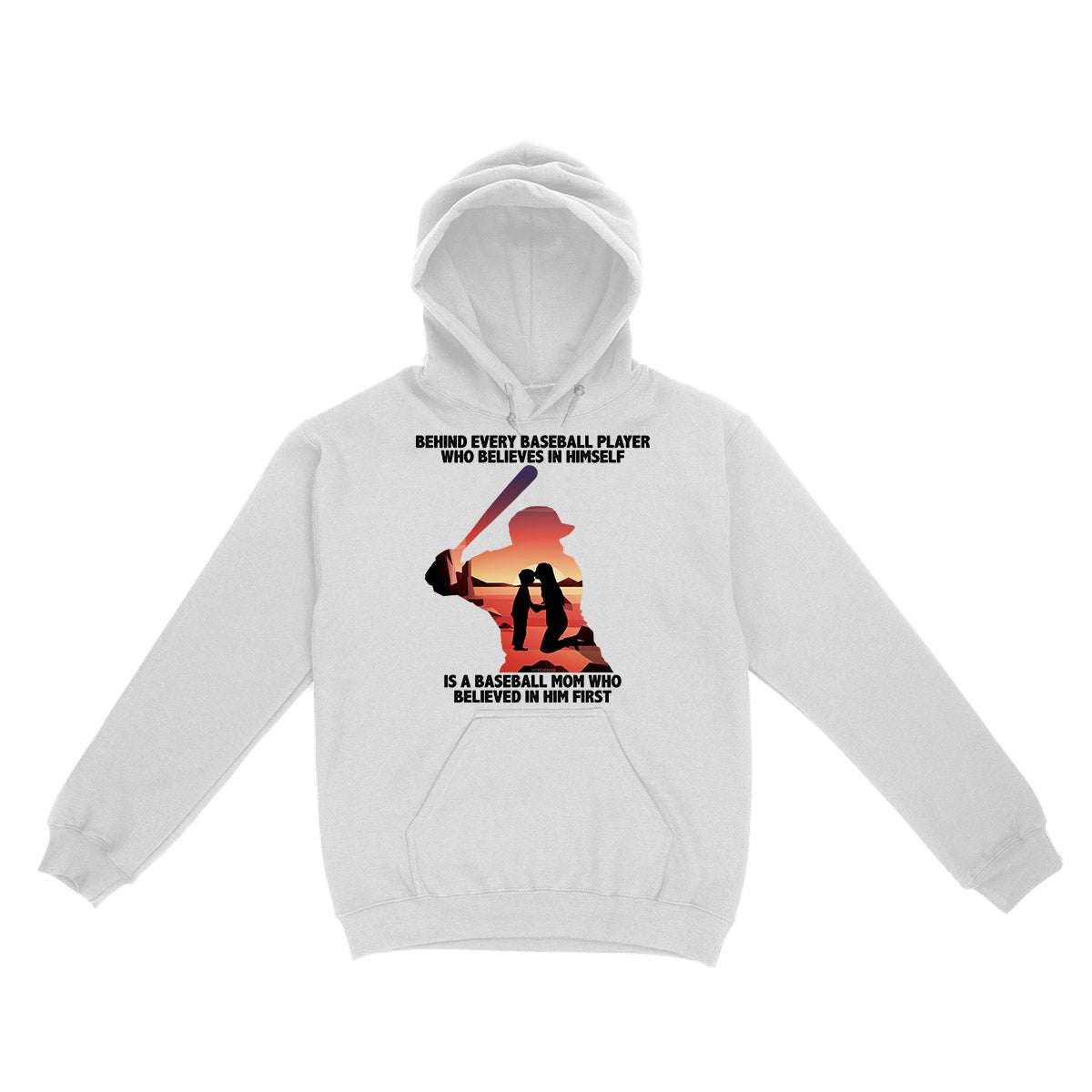 Baseball Mom Believe In Her Son EZ02 0804 Hoodie