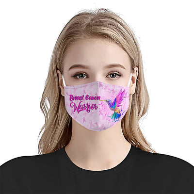 Hummingbird Breast Cancer EZ10 1704 Face Mask Ribbon - Hyperfavor