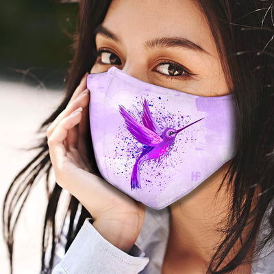 Hummingbird Art EZ10 1604 Face Mask Water color - Hyperfavor