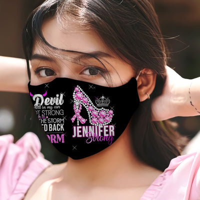 Breast Cancer Awareness I Am The Storm EZ05 1905 Custom Face Mask - Hyperfavor