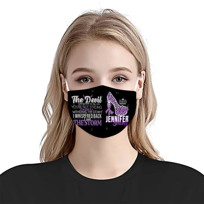 Domestic Violence Awareness I Am The Storm EZ05 1905 Custom Face Mask - Hyperfavor