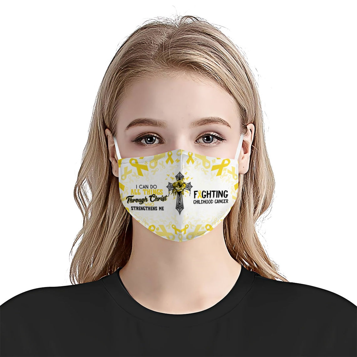 I can do all things fighting Childhood Cancer EZ16 0606 Face Mask - Hyperfavor