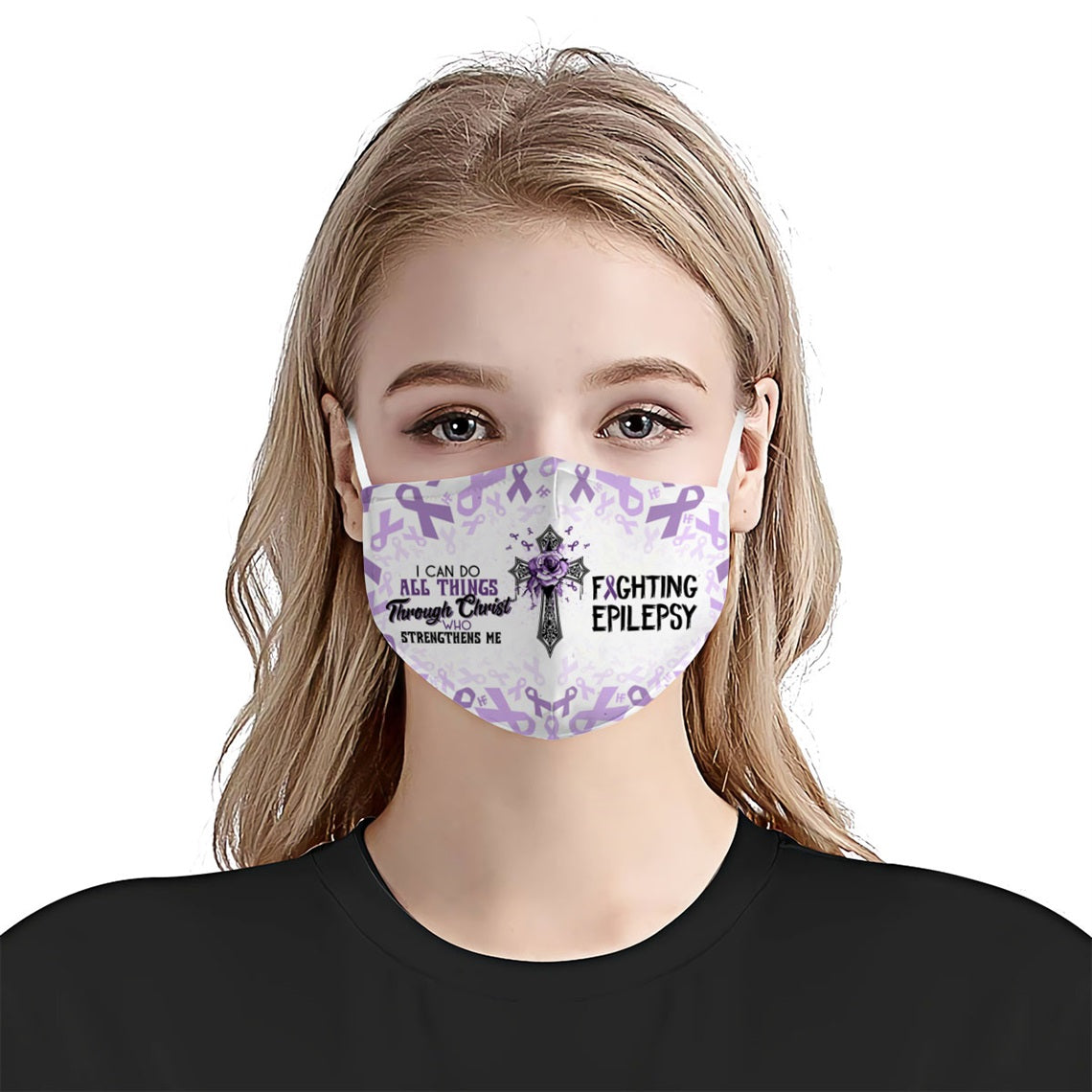 I can do all things fighting Epilepsy EZ16 0606 Face Mask - Hyperfavor