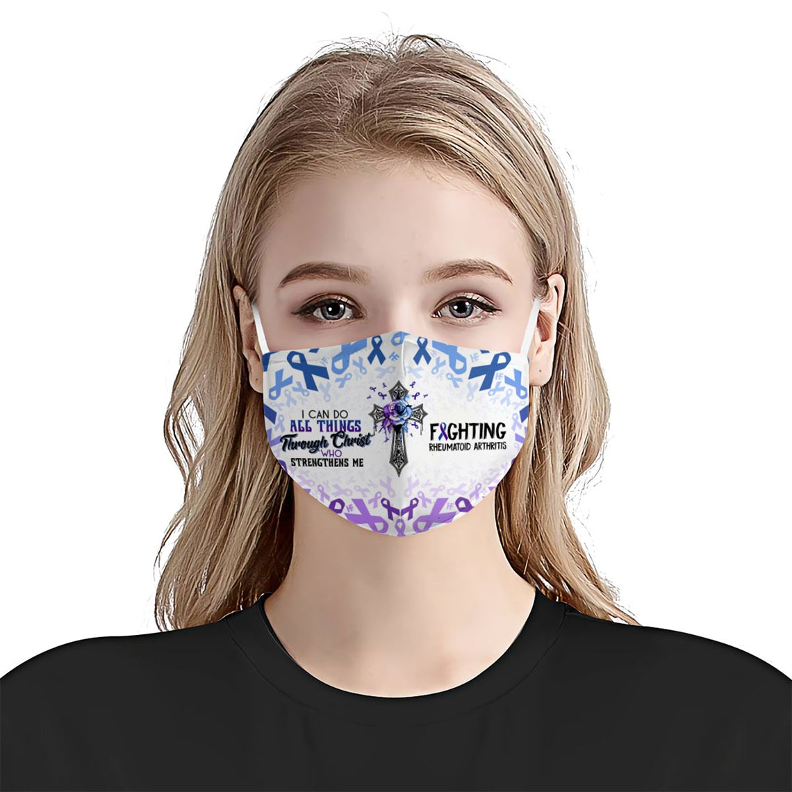 I can do all things fighting Rheumatoid Arthritis EZ16 0606 Face Mask - Hyperfavor