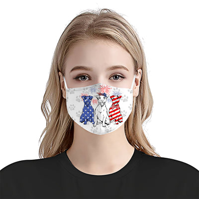 Jack Russell Terrier 4th Of July EZ01 1405 Face Mask - Hyperfavor