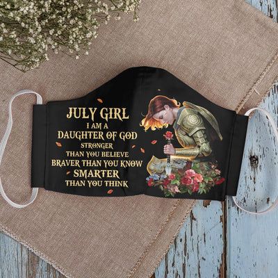 July Girl Daughter Of God EZ01 1405 Face Mask - Hyperfavor