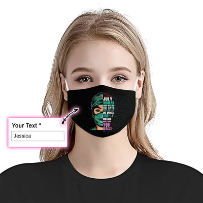 July Woman Knows More EZ15 2705 Custom Face Mask - Hyperfavor