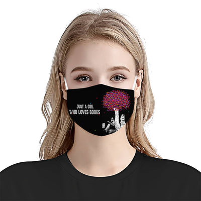 Just A Girl Who Loves Books 01 EZ03 2205 Face Mask - Hyperfavor