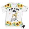 Just a girl who loves Boston Terrier EZ03 2303 All Over T-shirt - Hyperfavor