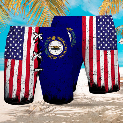 Kentucky x American Flag EZ12 2707 Beach Short - Hyperfavor
