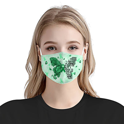 Kidney Disease Awareness Butterfly Journey EZ01 0705 Face Mask - Hyperfavor