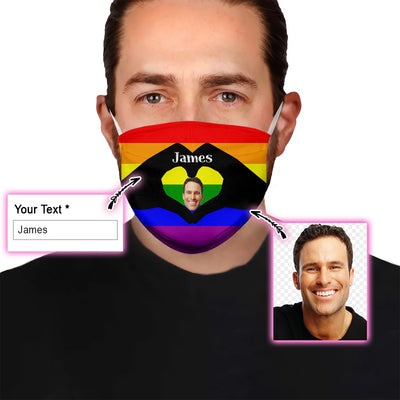 LGBT Flag EZ09 1905 Custom Face Mask - Hyperfavor
