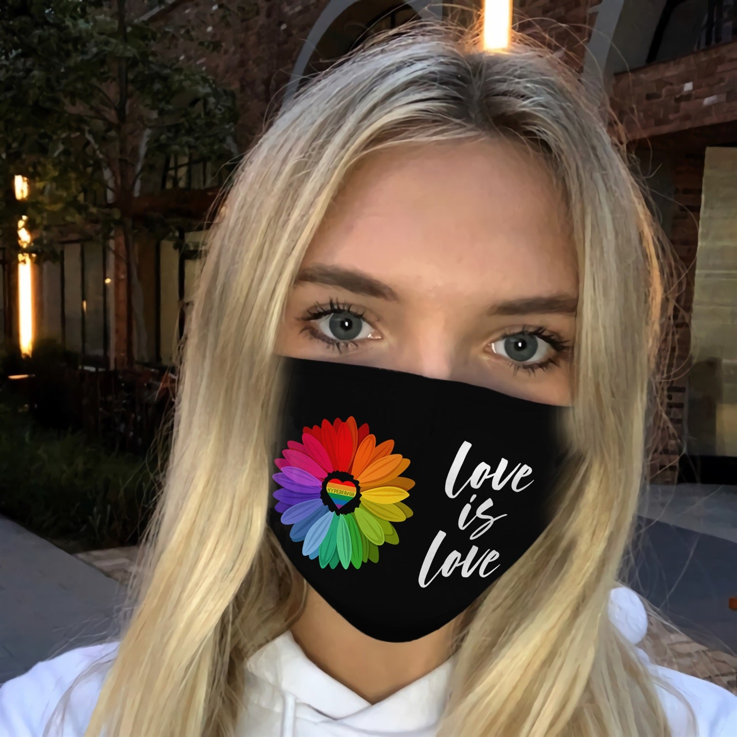 LGBT Gay Pride Sunflower EZ14 0506 Face Mask - Hyperfavor