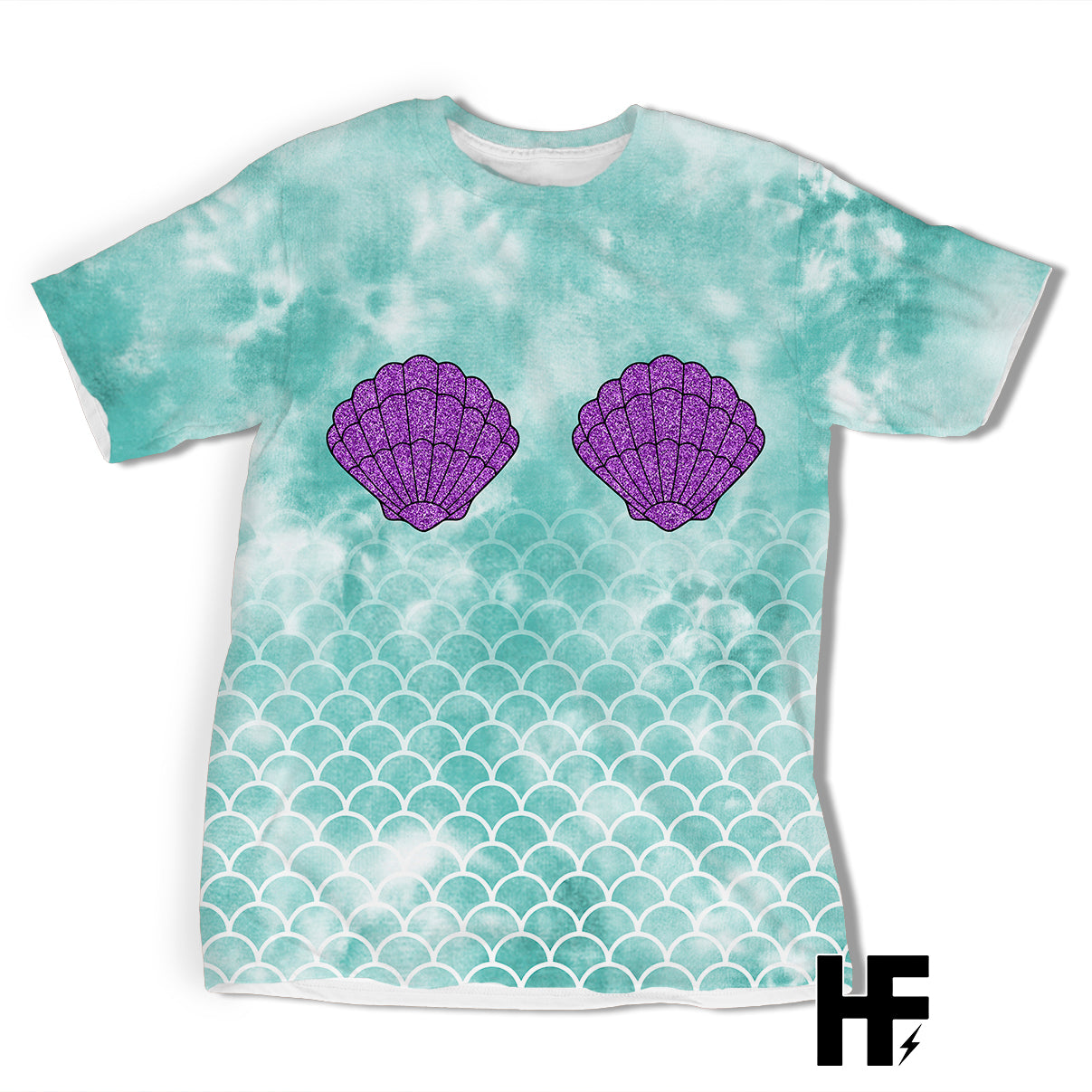Little Mermaid Tie Dye EZ03 0903 All Over T-shirt - Hyperfavor