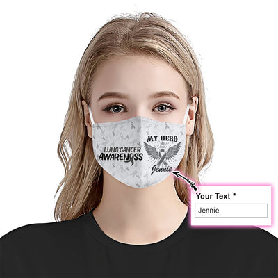 Lung Cancer Awareness Hero EZ10 2005 Custom Face Mask - Hyperfavor