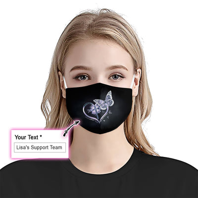 Lung Cancer Awareness Fight EZ10 1905  Custom Face Mask - Hyperfavor