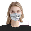 Lung Cancer Awareness I Wear EZ10 2005 Custom Face Mask - Hyperfavor