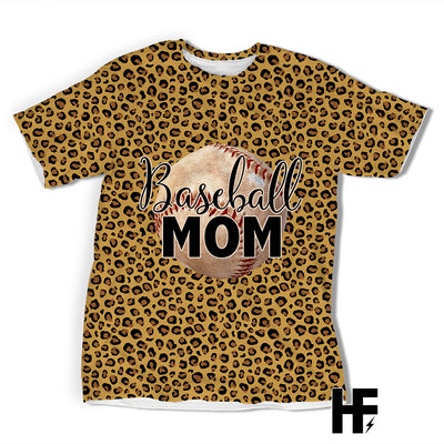 Mom Baseball Leopard EZ03 1603 All Over T-shirt - Hyperfavor