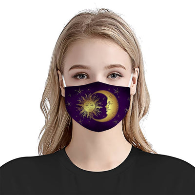 Premium Moon Sun Version Purple EZ09 1404 Face Mask - Hyperfavor