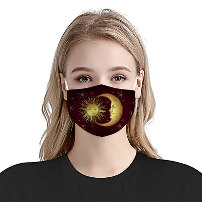 Premium Moon Sun Version Burgundy EZ09 1404 Face Mask - Hyperfavor