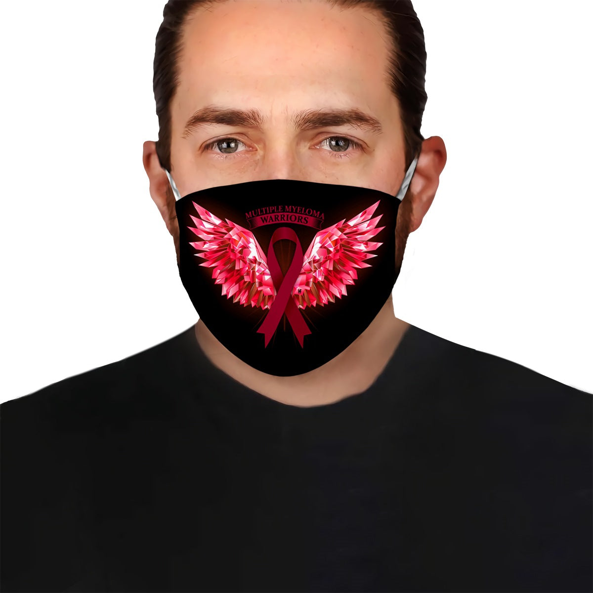 Multiple Myeloma Warriors Angel Wings EZ10 0405 Face Mask - Hyperfavor