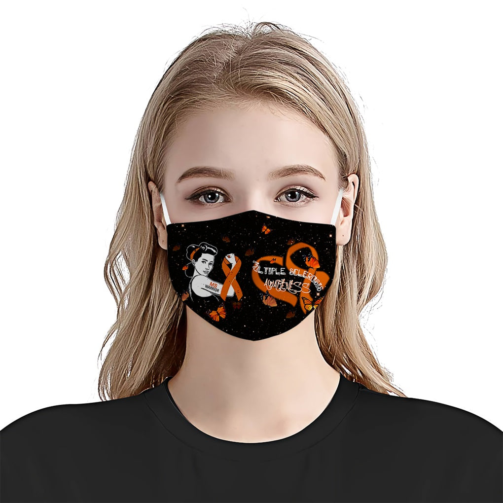 Multiple Sclerosis Awareness Heart EZ08 1804 Face Mask - Hyperfavor