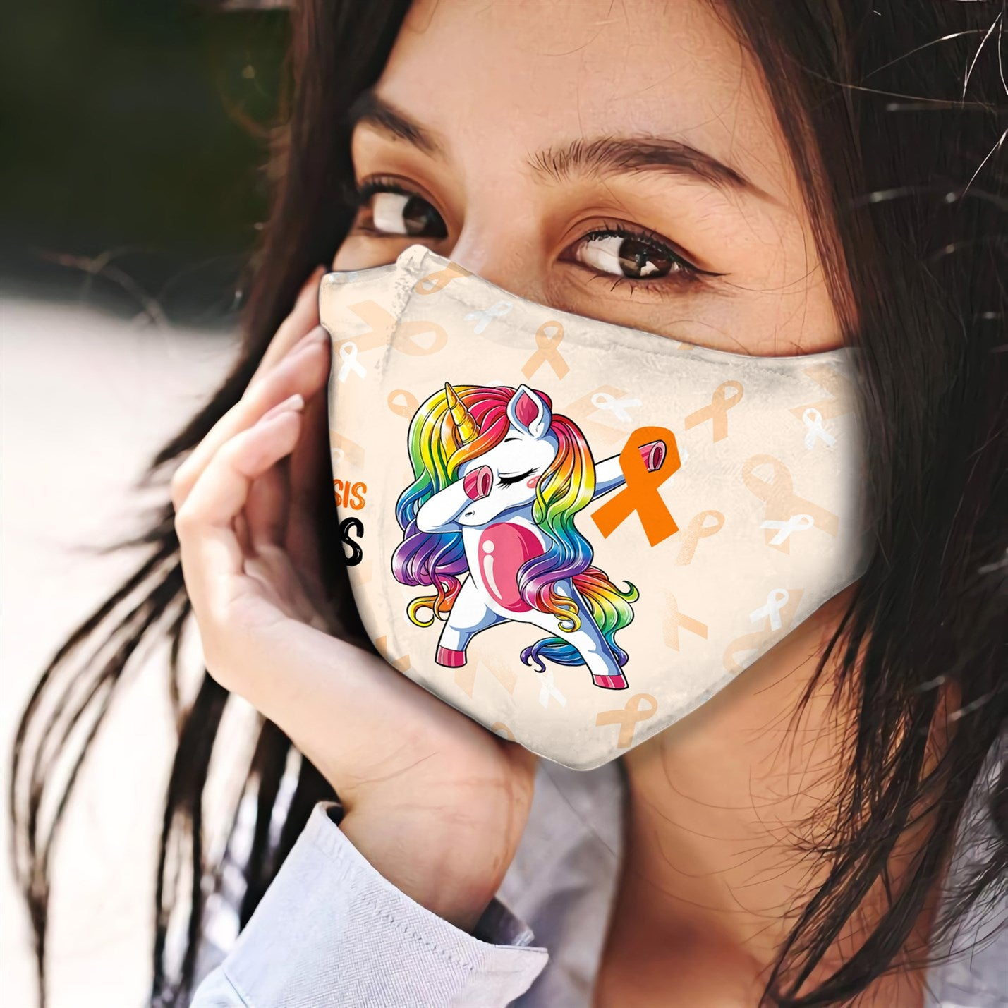 Multiple Sclerosis Awareness Unicorn EZ06 0405 Face Mask - Hyperfavor