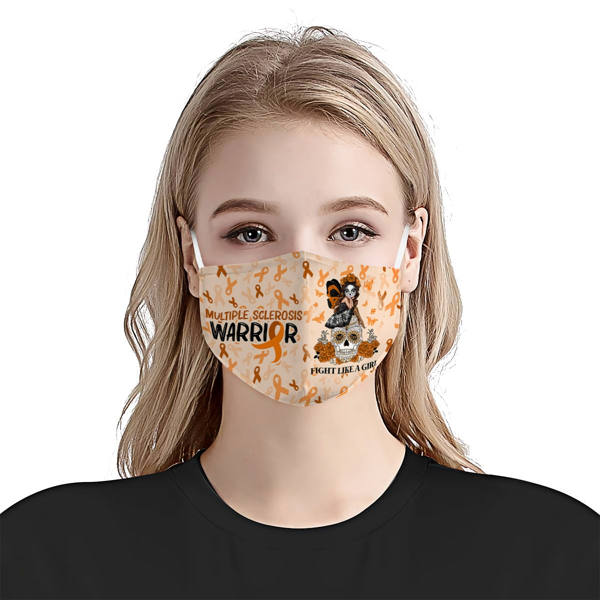 Multiple Sclerosis  Awareness Fight Like Girl EZ01 Face Mask - Hyperfavor