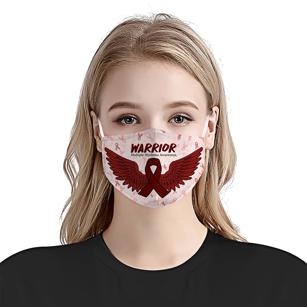 Multiple myeloma Awareness Wings EZ06 1704 Face Mask - Hyperfavor