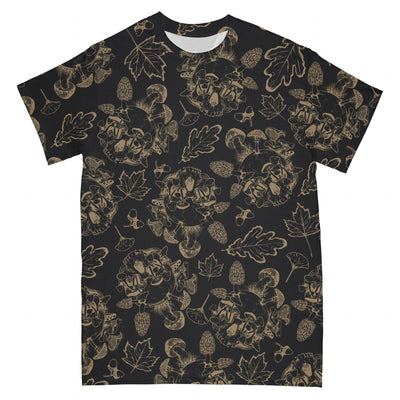 Mushroom Skull EZ01 2503 All Over T-shirt - Hyperfavor