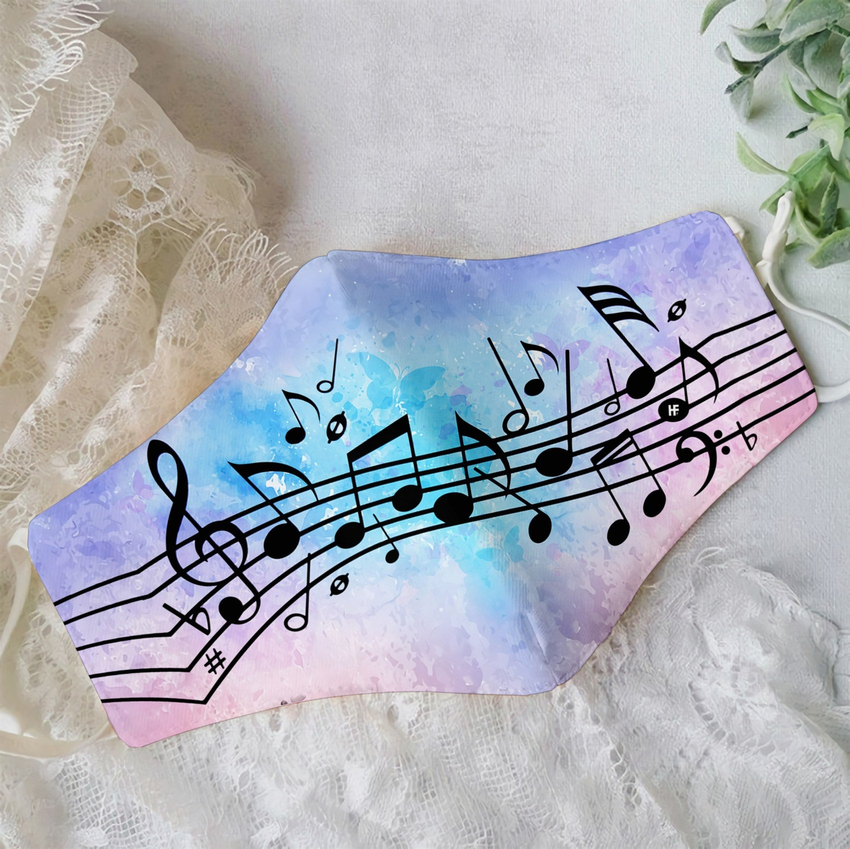 Music Watercolor EZ10 1407 Face Mask - Hyperfavor