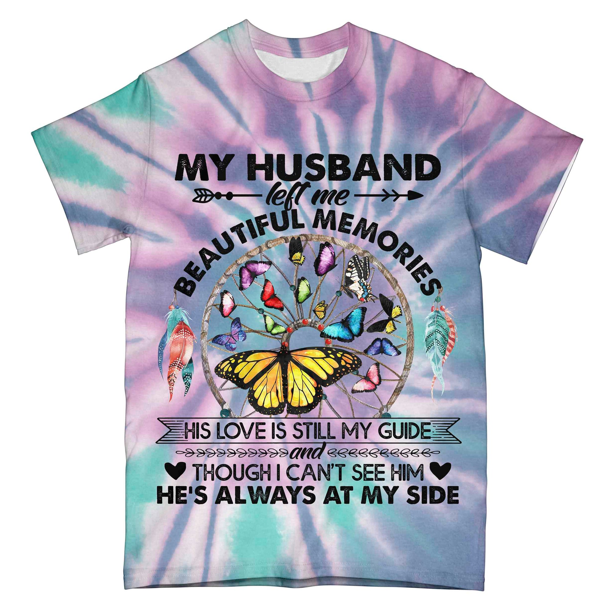 My Husband Left Me Tie Dye EZ02 0904 All Over T-shirt - Hyperfavor