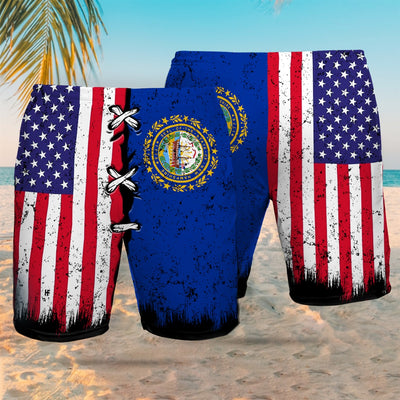 New Hampshire x American Flag EZ12 2707 Beach Short - Hyperfavor
