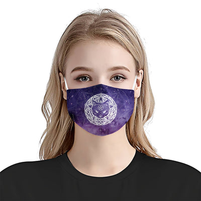 Premium Occult Cat Galaxy EZ05 1704 Face Mask - Hyperfavor