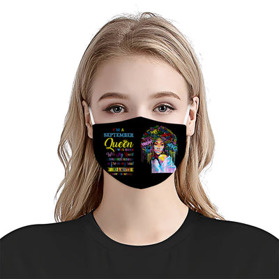 African American October Queen EZ10 1805 Face Mask - Hyperfavor