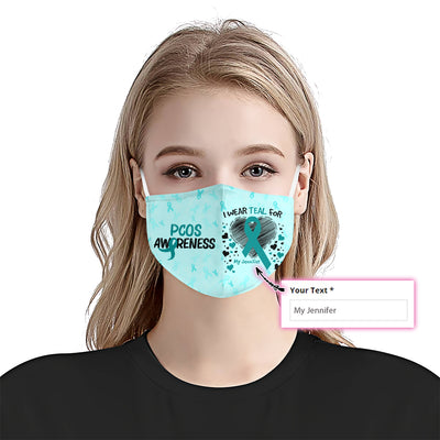 PCOS Awareness I Wear EZ10 2005 Custom Face Mask - Hyperfavor