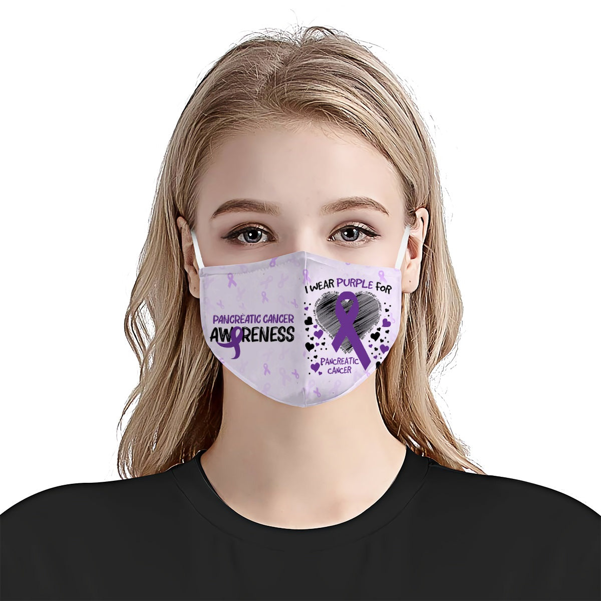 Pancreatic Cancer Awareness I Wear EZ10 0405 Face Mask - Hyperfavor