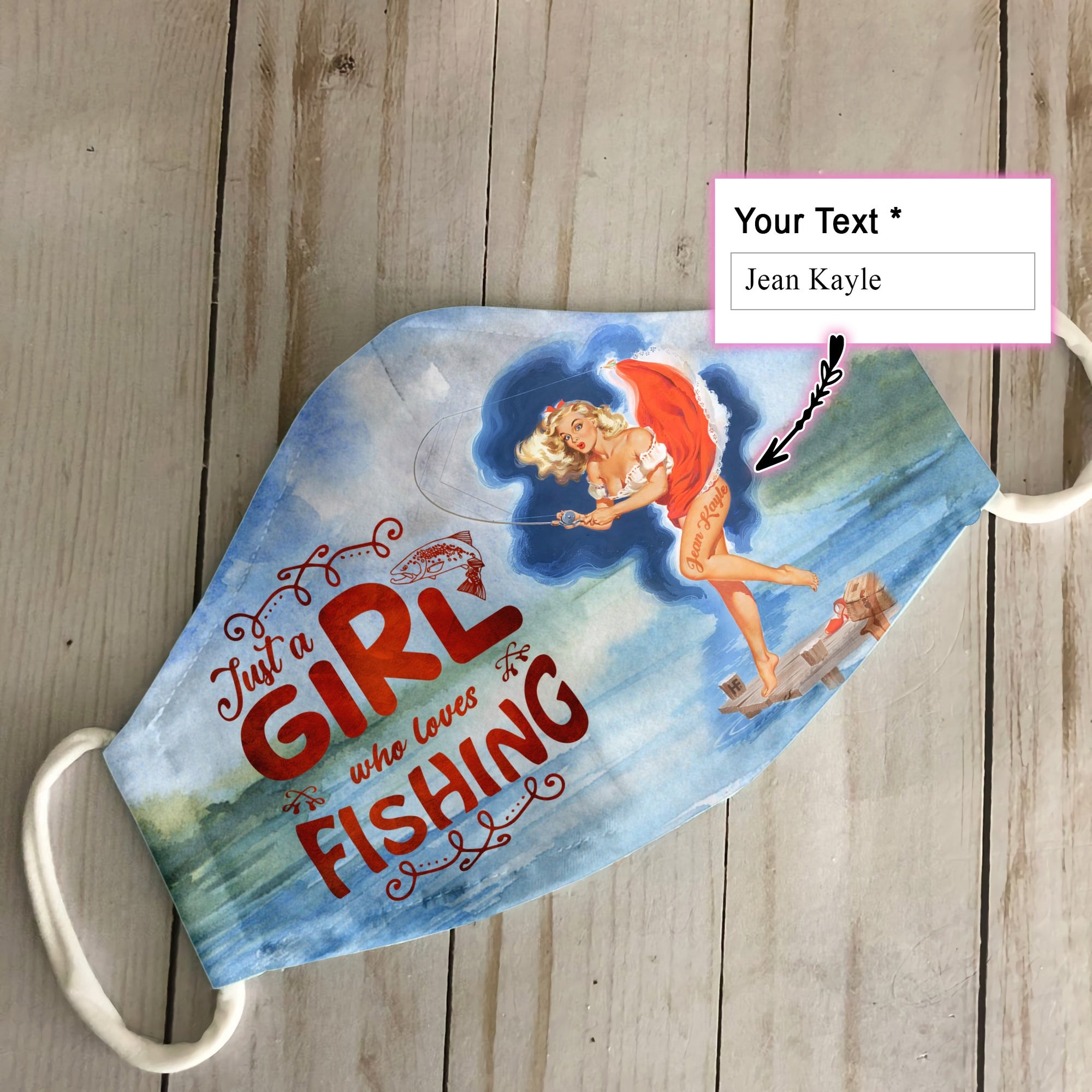 Personalized Just A Girl Who Loves Fishing EZ12 1806 Custom Face Mask - Hyperfavor