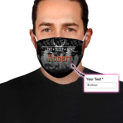 Personalized Name Hunting EZ06 1905 Custom Face Mask - Hyperfavor