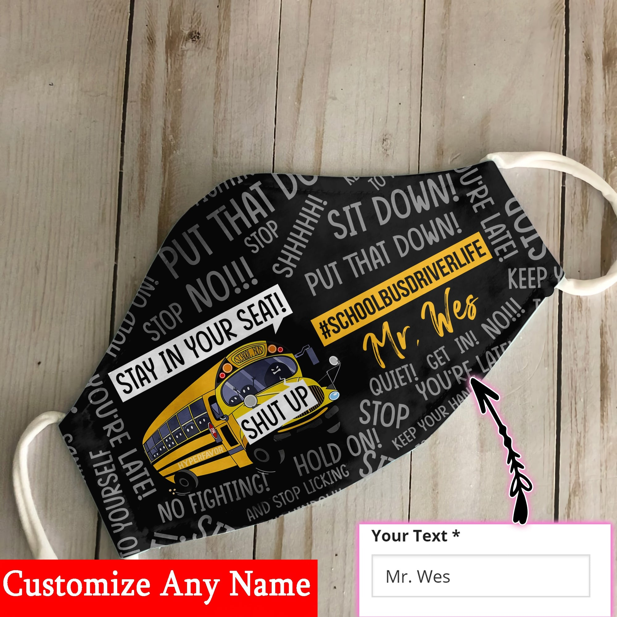 Personalized Name School Bus Driver EZ06 2506 Custom Face Mask - Hyperfavor