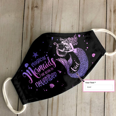 Personalized Magical Mermaids Are Born In November EZ07 2305 Custom Face Mask - Hyperfavor