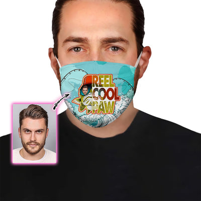Personalized Reel Cool Paw With Your Face EZ08 1905 Custom Face Mask - Hyperfavor