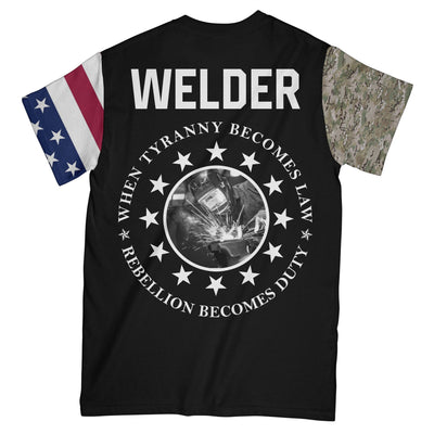 Personalized Welder Patriot EZ10 1508 Custom All Over T-Shirt - Hyperfavor